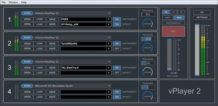 """Digital Brain Instruments has releasedvPlayer 2, a freeware standalone application for hosting VST/AU plugins on PC and Mac. Our regular readers might remember Digital Brain Instruments from Drogomir Smolken's review of their Voxpat($159) real-time FX software for creating robotic voices. The plugin received a respectable85% score in our test and was described as """"well thoughtRead More"""