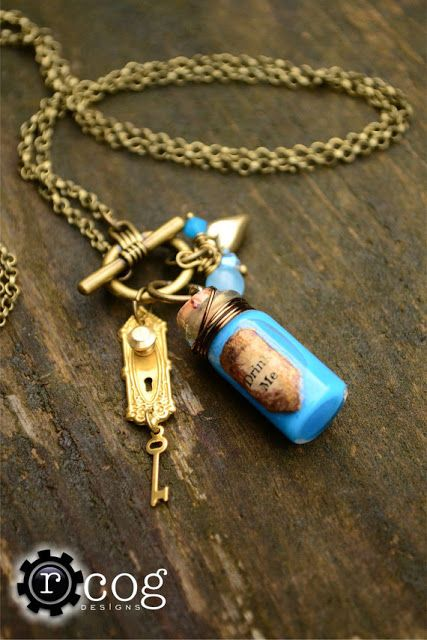 "Alice in Wonderland ""Drink Me"" necklace"