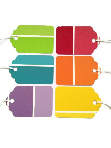Paint Chip Gift Tags Cheap-Just buy string. I really need to get some paint chips.