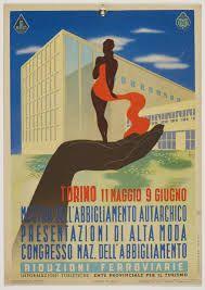 1940- Si inaugura a Torino la Mostra dell'Abbigliamento Autarchico per la Promozione della Moda Italiana