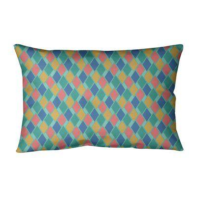 Latitude Run Avicia Retro Diamonds Pillow Fill Material No Fill Color Light Pink Pale Yellow Diamond Pillows Throw Pillow Sets Cotton Throw Pillow