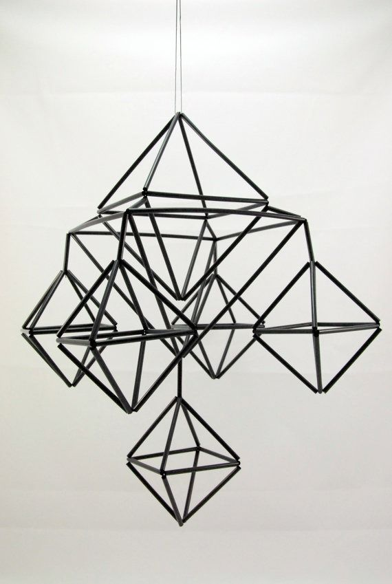 A himmeli, or geometric mobile used in Finnish Christmas decoration, can add a chic and sophisticated look to your home.