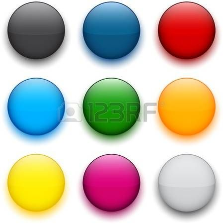 Set of blank colorful round buttons for website or app.  photo
