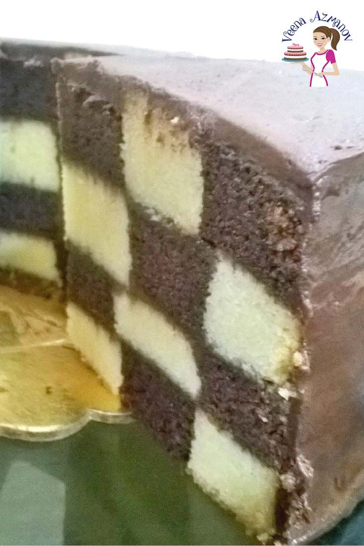 How To Make A Checkerboard Cake Aka Checker Board Cake Tutorial Checkerboard Cake Cupcake Cakes Checkered Cake