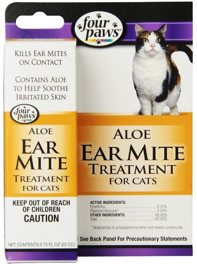 Four Paws Ear Mite Remedy For Cats 75 Oz 100202112 In 2020 Cat Ear Mites Cat Health Cat Health Care