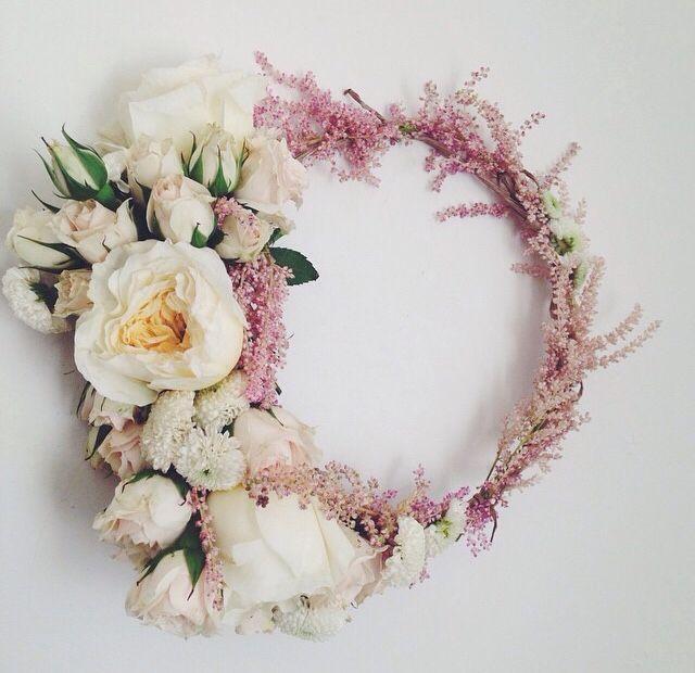 A Gorgeous Flower Crown Flower Crown Wedding Flower Crown Wedding Crown