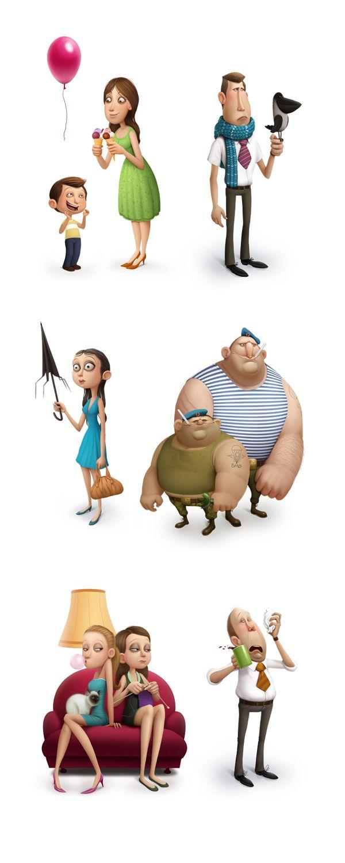 Personagens 3D por Max Kostenko | Criatives | Blog Design, Inspirações, Tutoriais, Web Design