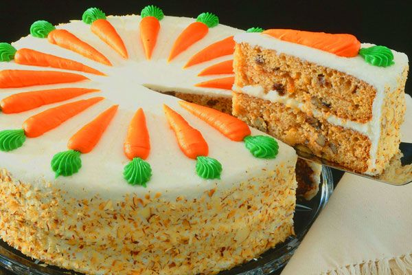 Carrot cake with carrots to cute