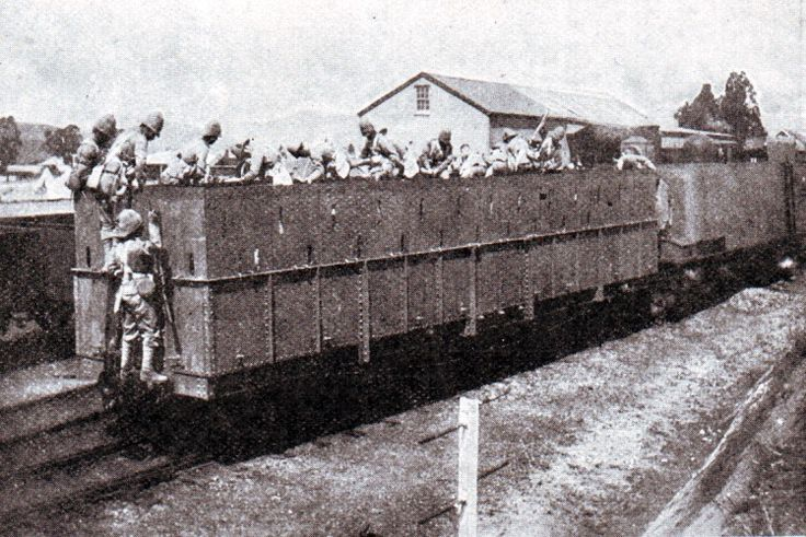 2nd Royal Dublin Fusiliers on the Armoured Train in Natal in November 1899 during the Boer War