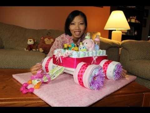 Wagon Diaper Cake Tutorial Video Tutorial Lots Of Ideas