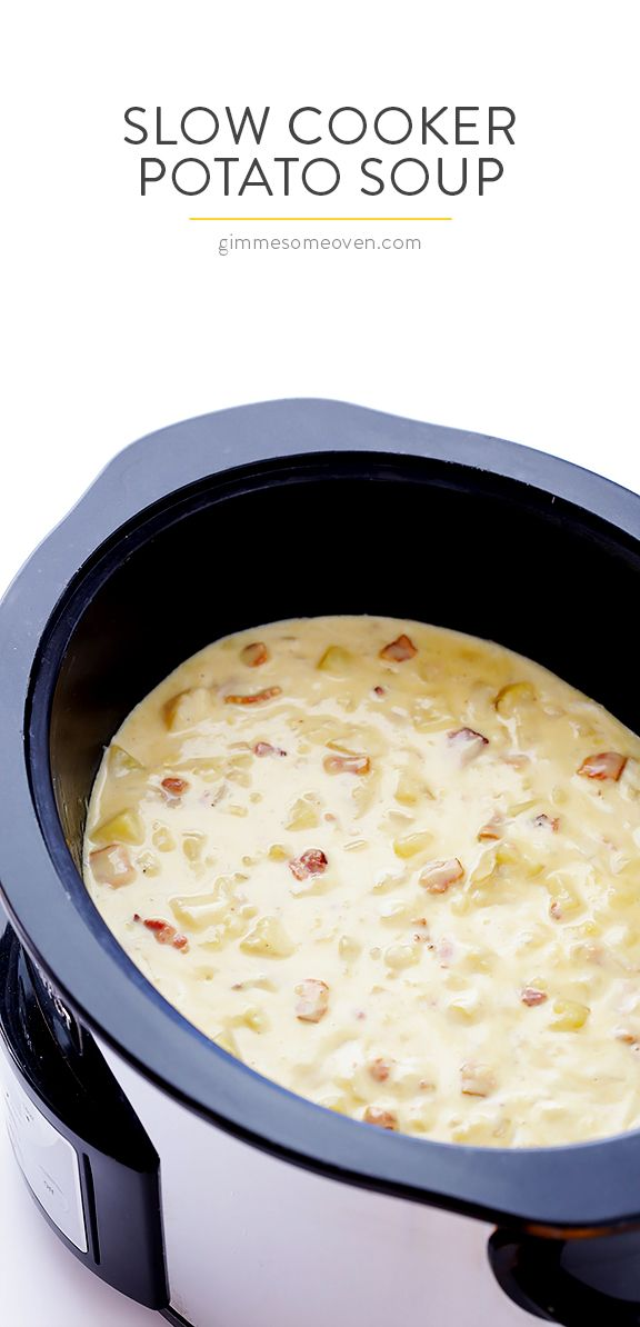 Olla de cocción lenta Sopa de patata - tan delicioso, y hacen extra-fácil en la olla de barro!  |  gimmesomeoven.com
