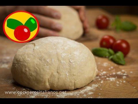 Masa de Pizza Italiana - Receta casera Napolitana para Pepperoni, Margherita - YouTube