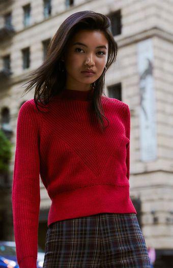 5c7900b6e21 Kendall   Kylie Rachel Mock Neck Sweater
