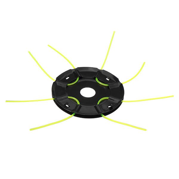 Metal 120x15mm Grass Trimmer Head with 4 Nylon Lines Brush Cutter Head for Strimmer Replacement