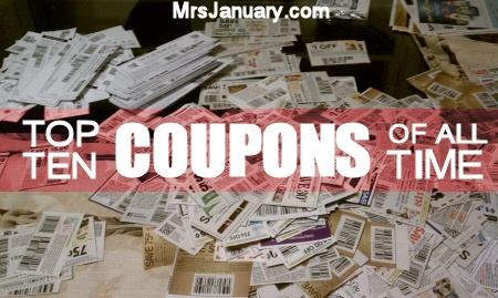 Top 10 Canadian Coupons of All Time via MrsJanuary.com #extremecouponing #coupons