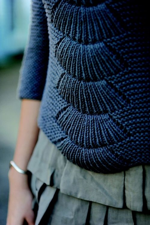 ZsaZsa Bellagio. I'm not sure I love this pattern down the front of a sweater, but as the top of a sleeve? That would be gorgeous.