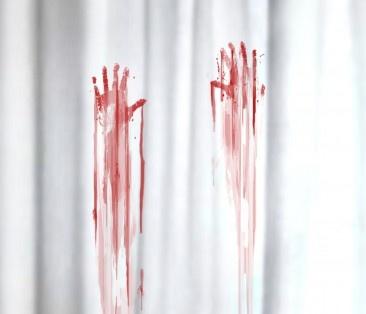 Et le rideau de douche assorti au tapis !