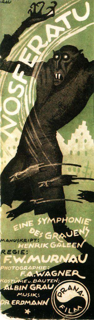 VintageVintage Posters, Movie Posters, Silent Film, Nosferatu, Film Posters, Horror Film, Horror Movie, Vintage Movie, Halloween