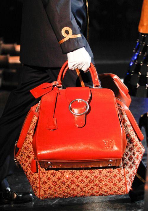 Louis Vuitton Fall 2012 bright orange handbag