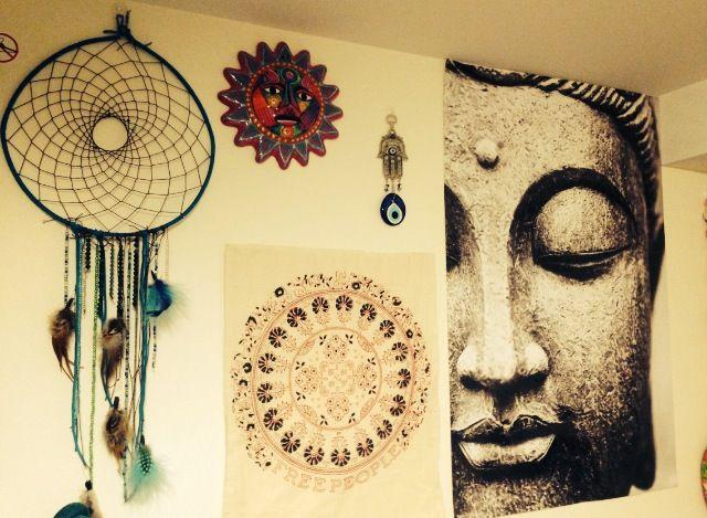 More of my boho dorm wall