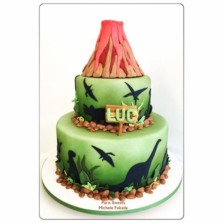 Resultado de imagem para bolo dinossauro