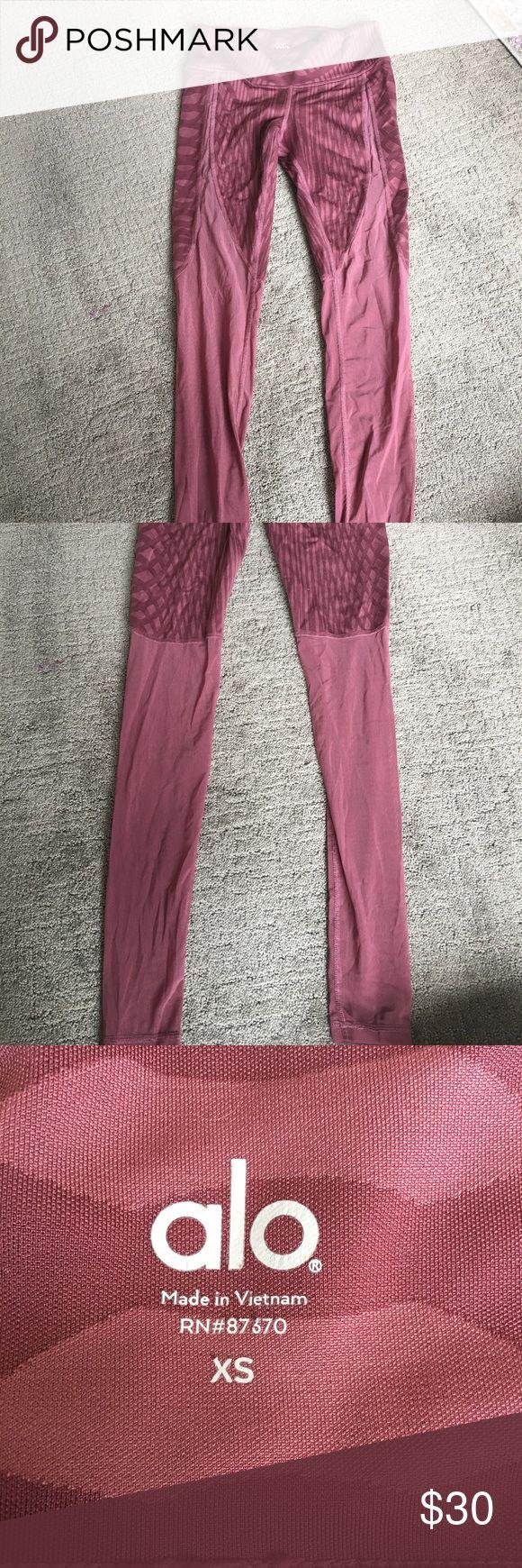 Ali yoga pants Half mesh yoga pants ALO Yoga Pants Leggings