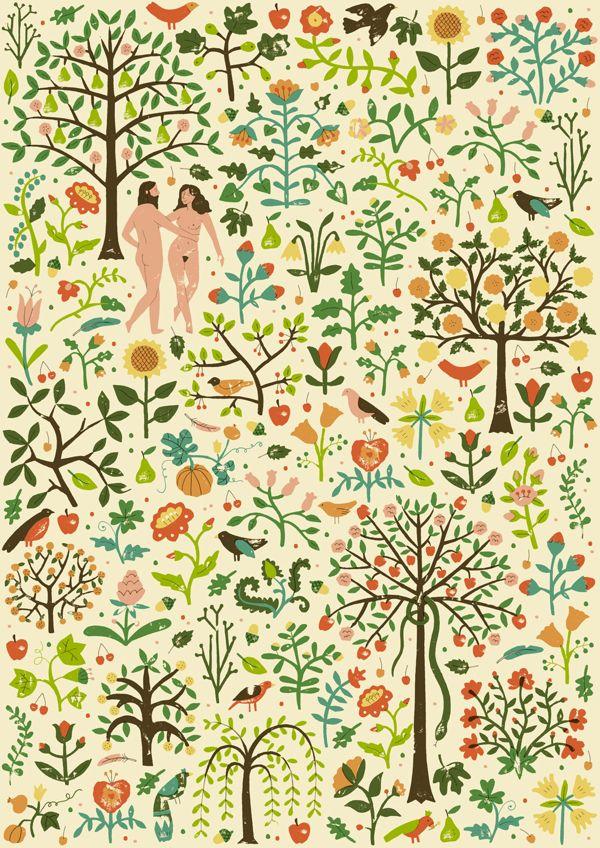 The Garden of Eden by Harriet Taylor Seed, via Behance