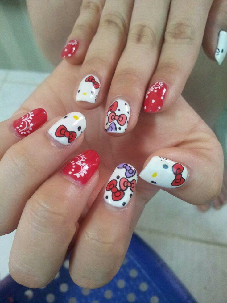 12 best Hello Kitty Nail Designs images on Pinterest | Hello kitty ...