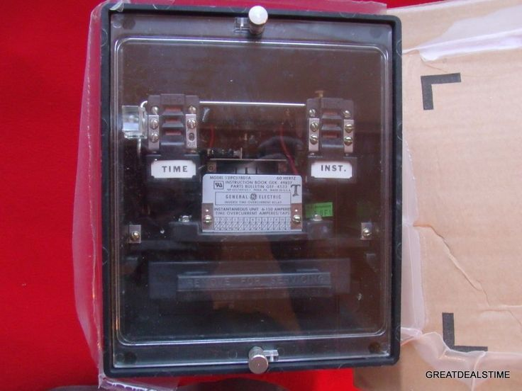 General Electric Time Overcurrent Relay Inverse Time Instantaneous 12IFC51BD1A #GE