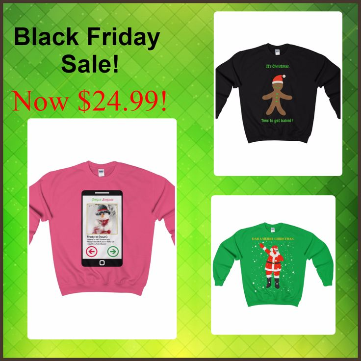 #Uglychristmassweaters #Funnychristmassweaters #BlackFriday Prices now at $24.99!