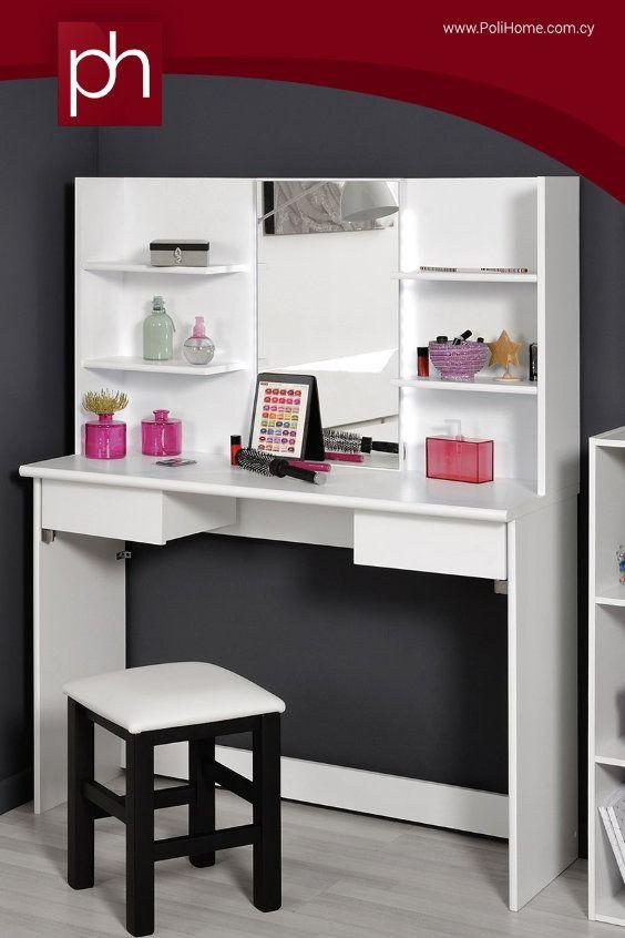 4b60d299c6c5 Τουαλέτα Vole με Καθρέπτη  beautyroom  makeup  furniture  interior   polihome  τουαλέτα