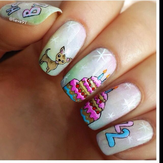 Birthday Cake Nails: 14 Best Glass Nail Files Images On Pinterest
