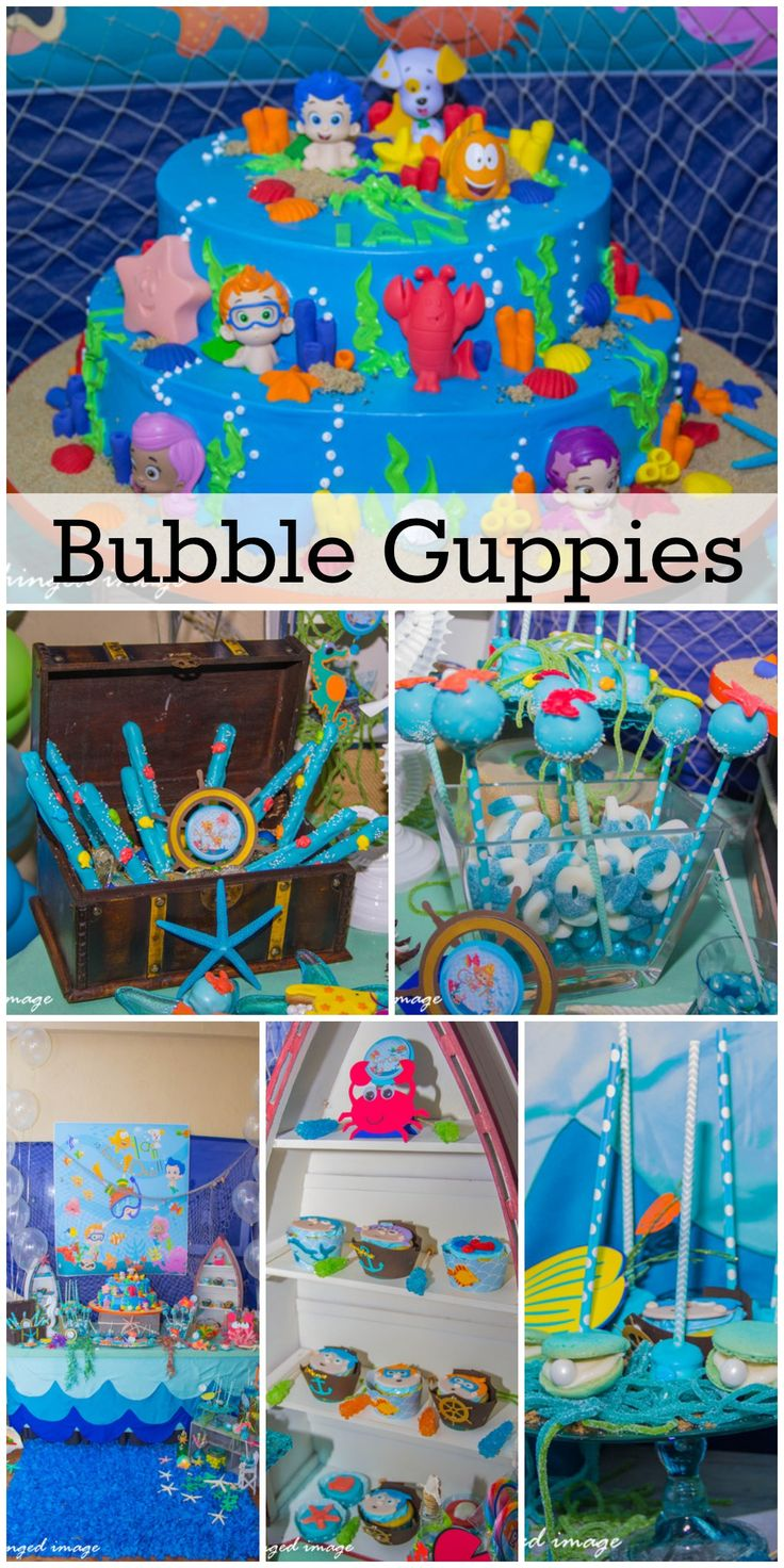 Great Bubble Guppies under the sea party ideas! See more party ideas at CatchMyParty.com.