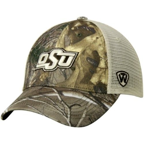super popular 81e27 b7d33 Oklahoma State Cowboys TOW Camo Mesh Prey Adjustable Snapback Hat Cap, Multi