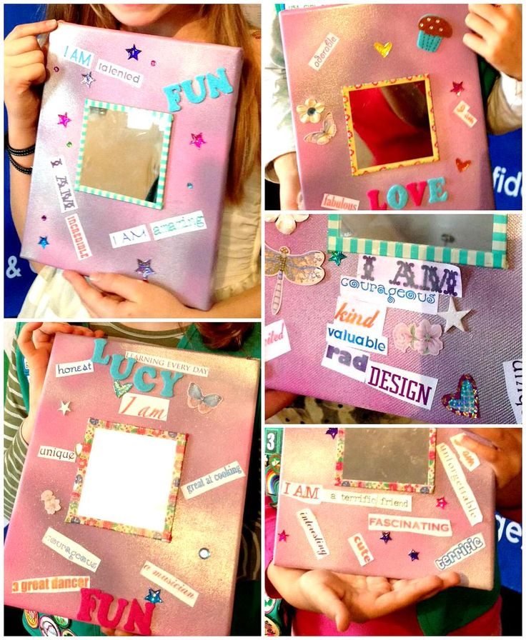 """""""I Am"""" Empowerment Mirrors for Junior aMUSE Journey and WAGGGS """"Free Being Me"""" project #girlscouts #freebeingme #icantwaitto"""