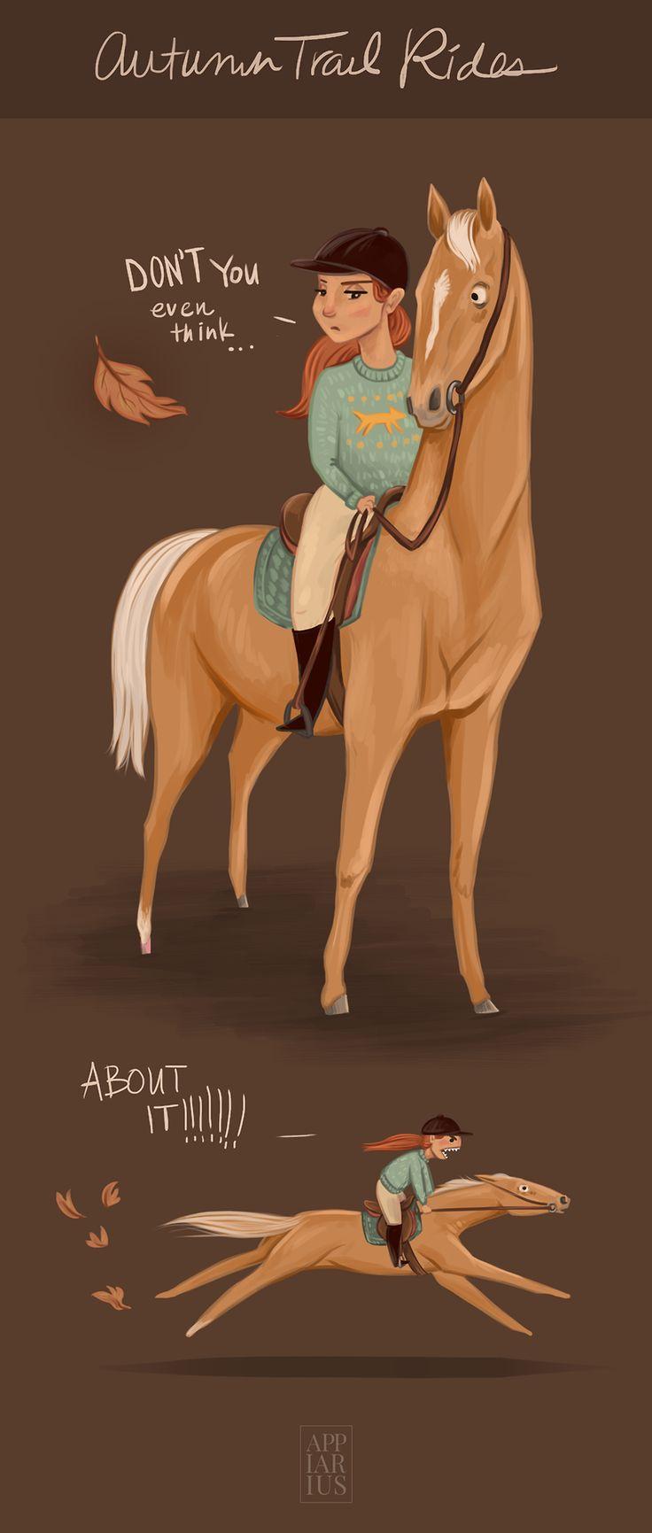 """appiarius: """" Autumn Trail Rides by Amanda Appiarius """""""