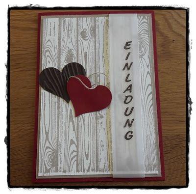 Kreatives Aus Papier Stampin Up Einladung Hölzerne Hochzeit