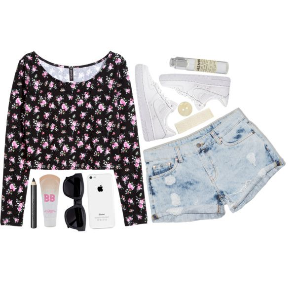 Flower Seeds by graaaace on Polyvore featuring polyvore, fashion, style, H&M, Dricoper, NIKE, Acne Studios, Maybelline, Burberry and Le Labo