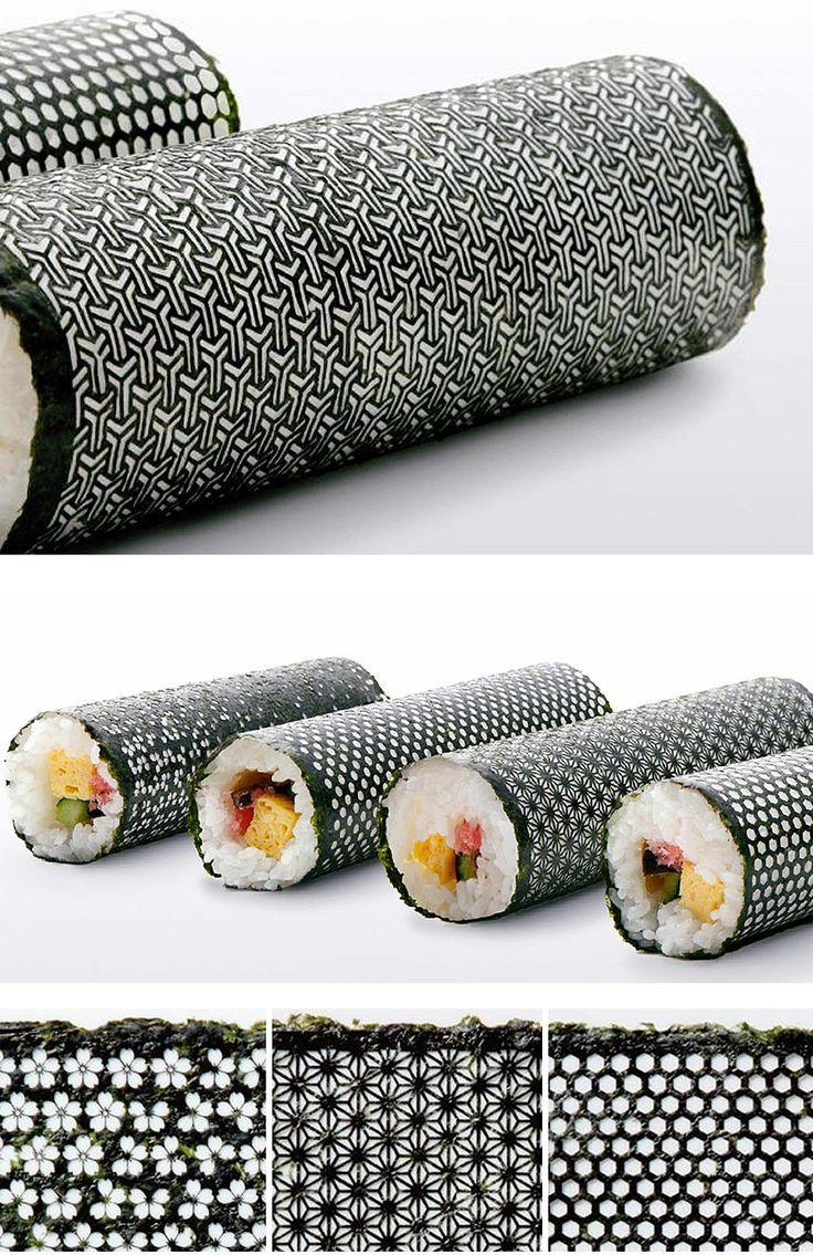 laser cut nori seaweed sheets for sushi rolls   packaging   Design: I&S BBDO  