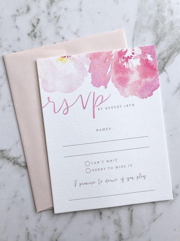 Wedding Invitation Floral Wedding Invitation Suite