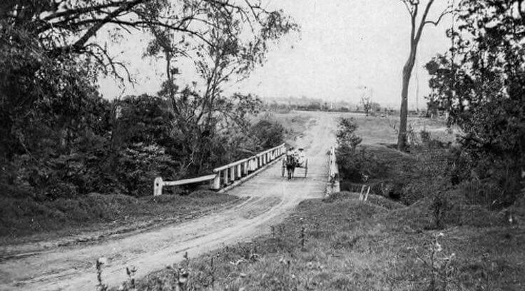 Cobbity Bridge,at Cobbity in southwestern Sydney in the 1920s.