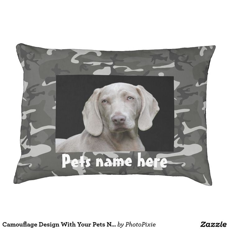 Camouflage Design With Your Pets Name and Photo