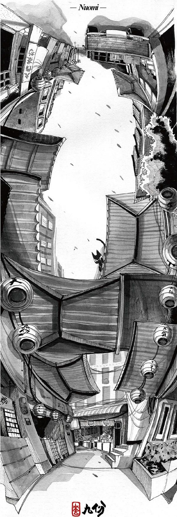 【設計大人物】Nuomi 的插畫旅行地圖---九份 | 大人物