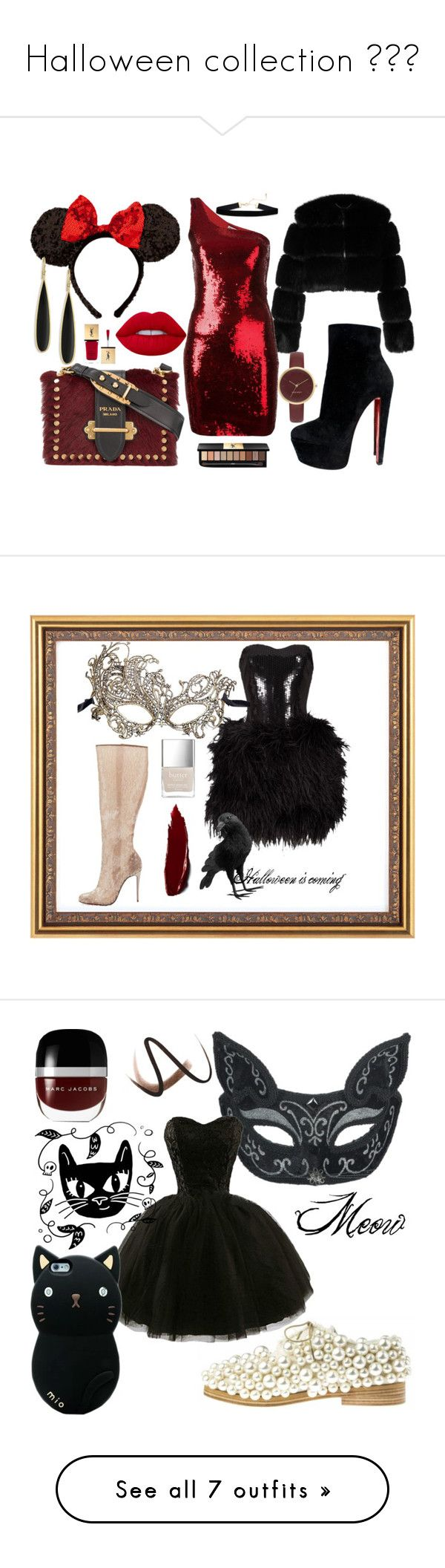 """Halloween collection 🤗😣😥"" by scheylly ❤ liked on Polyvore featuring Givenchy, Yves Saint Laurent, Christian Louboutin, Lime Crime, Ippolita, Prada, Nine West, Lillie Rubin, Masquerade and Pottery Barn"