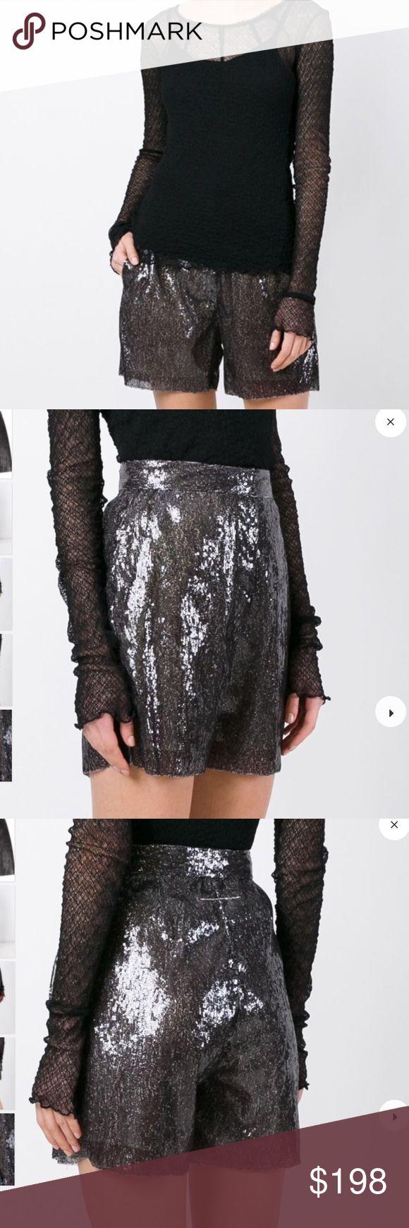 MM6 Margiela black sequin shorts NWT Sz 6 Off black sequin shorts NWT s 6 Retail $528 Maison Margiela Shorts