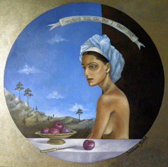 Женщина и фрукты живопись на холсте by SvetlanaBehor on Etsy