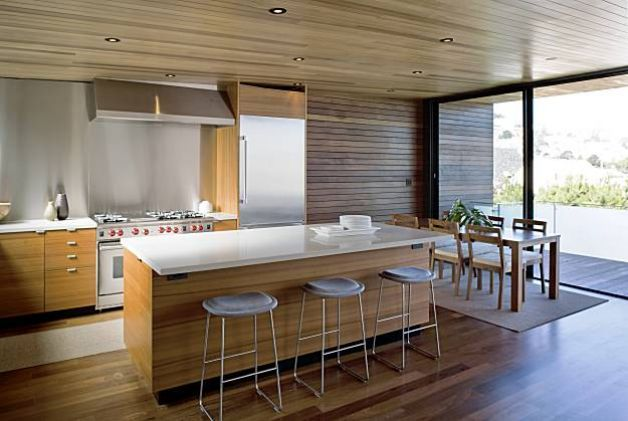 1960s-style remodelled kitchen and dining area