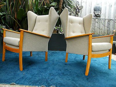 1950s PAIR OF PARKER KNOLL WINGBACK CHAIRS PROF REUPHOLSTERED RETRO VINTAGE & 20 best Parker knoll chairs images on Pinterest | Armchairs Wing ...