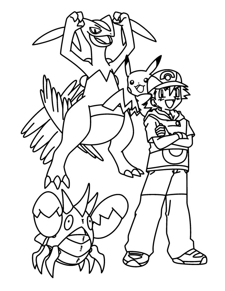 pokemon group coloring pages - photo#15