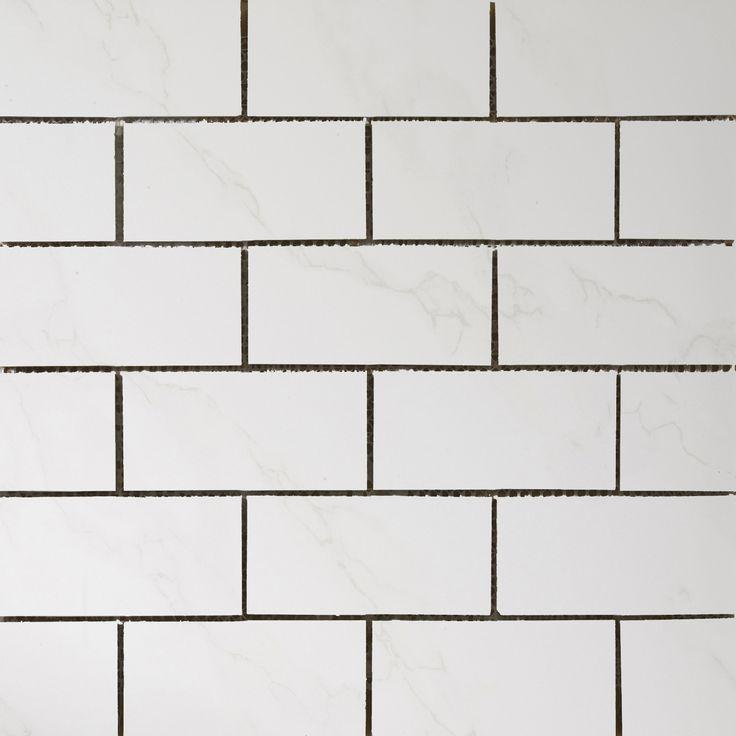 Paladino Albnla Porcelain Mosaic Tile in White